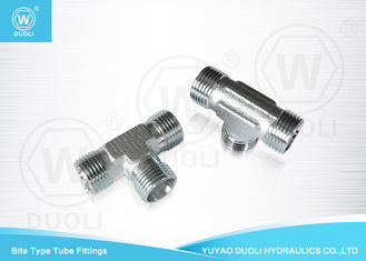Metric Thread Bite Type Hydraulic Tee Fitting Steel Compression Fittings Tempa